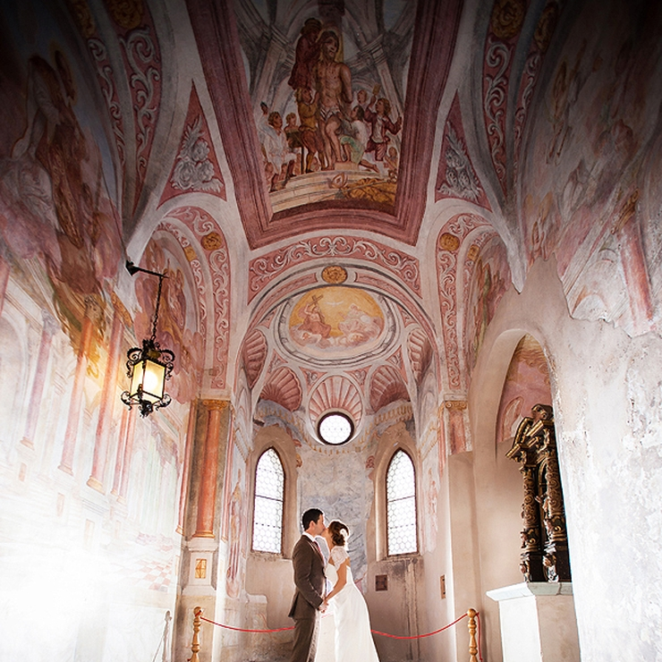 Ana and Steve's wedding at Lake Bled, Slovenia; Photos: Ana Gregorič