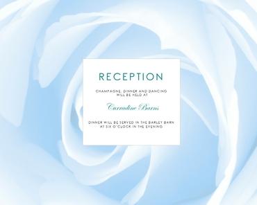 Blue wedding reception decor