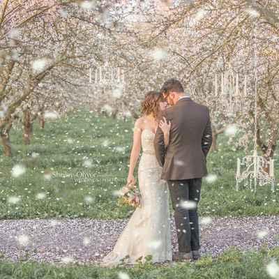 Outdoor spring ivory long wedding dresses