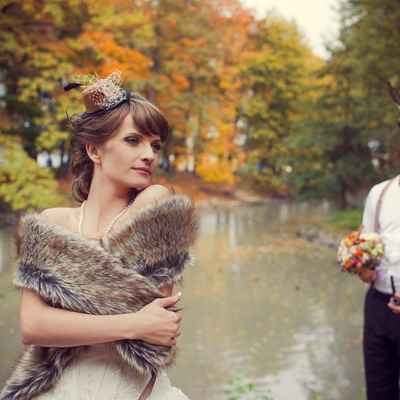 English brown bridal style