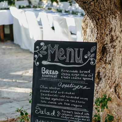 Outdoor black wedding reception decor