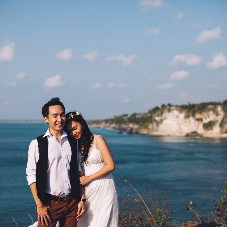 Albert and Devi's Bali Outdoors Engagement