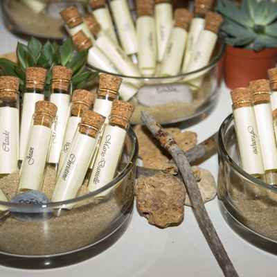 Ivory wedding favours