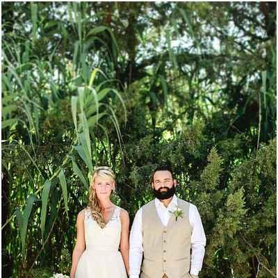 Outdoor spring white long wedding dresses