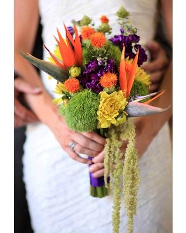 Autumn purple alternative wedding bouquet