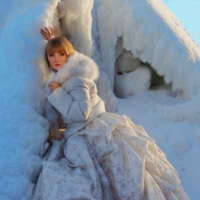 Winter bridal style
