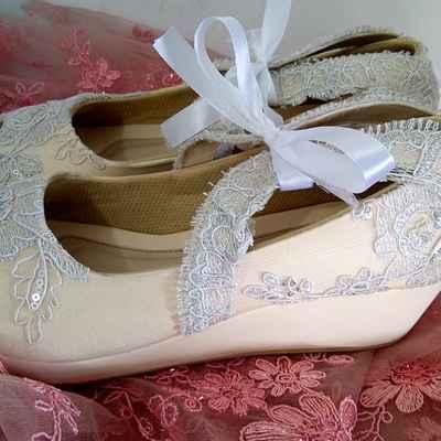 Ivory wedding shoes