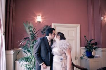 Vintage blue long wedding dresses