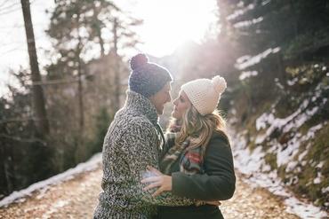 Winter outdoor engagement