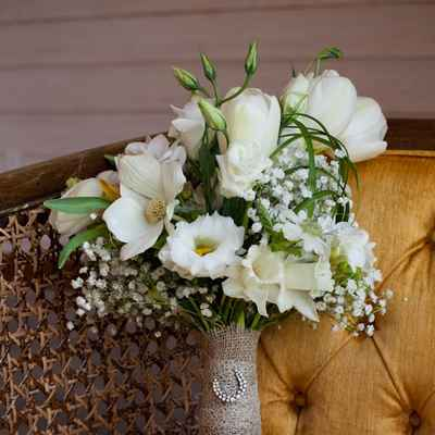 Spring eustoma wedding bouquet