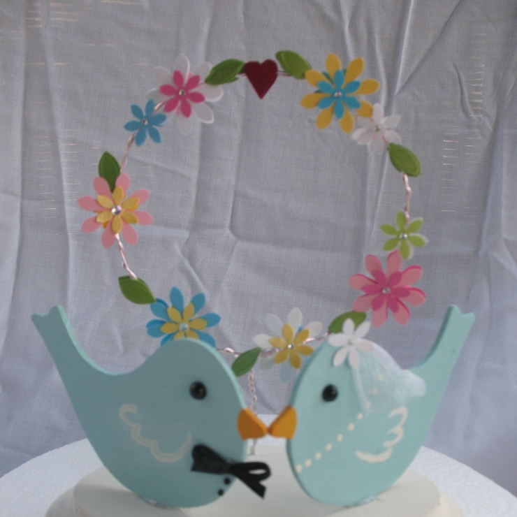 Wedding cake toppers, LOVE BIRDS