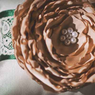Brown wedding ring pillows
