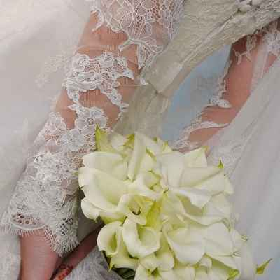 Ivory calla wedding bouquet