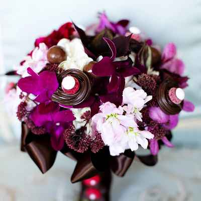 Brown calla wedding bouquet