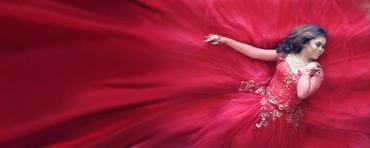 Red long wedding dresses