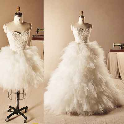 European white short wedding dresses