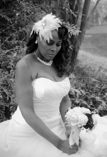 White bridal hair and make-up