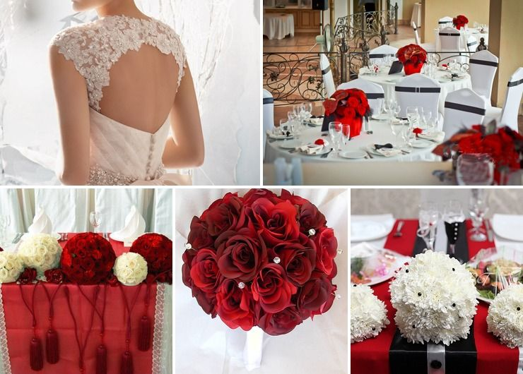Wedding dresses Red Vintage