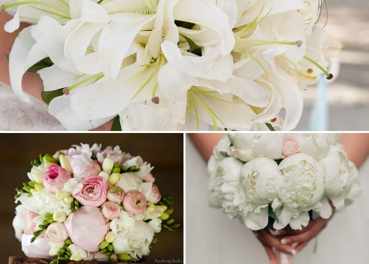 White lilly wedding bouquet