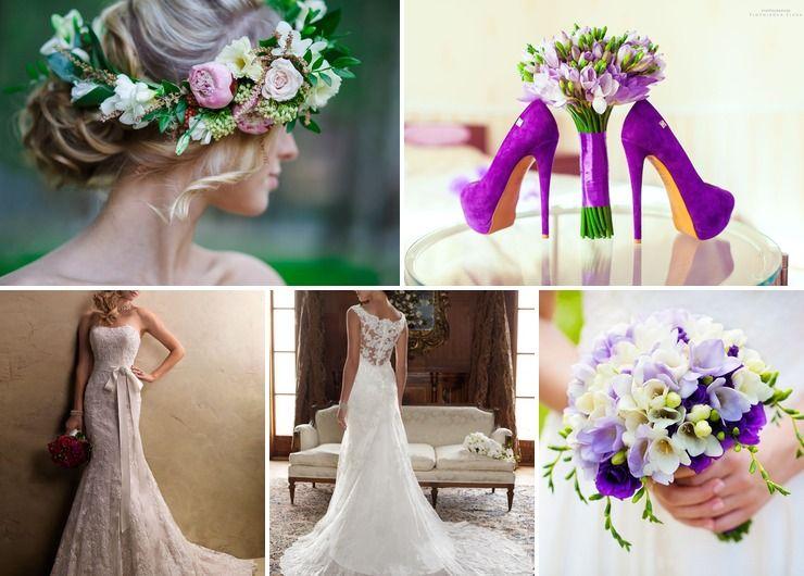 Wedding dresses Purple in Summer Rustic
