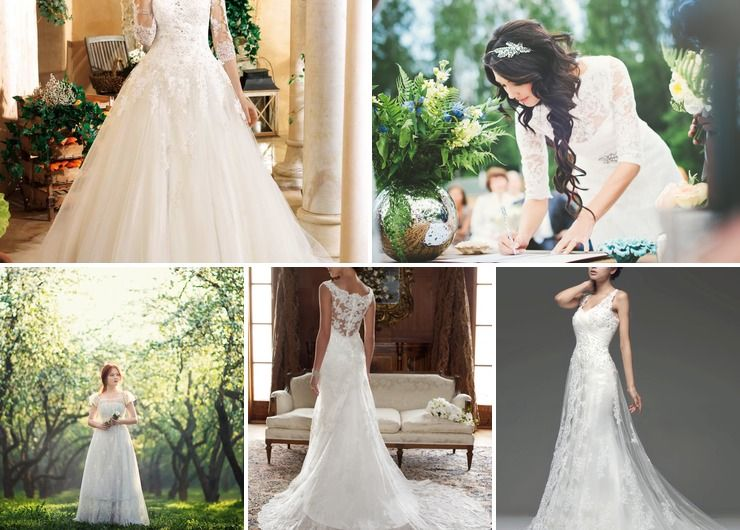Vintage summer bridal style
