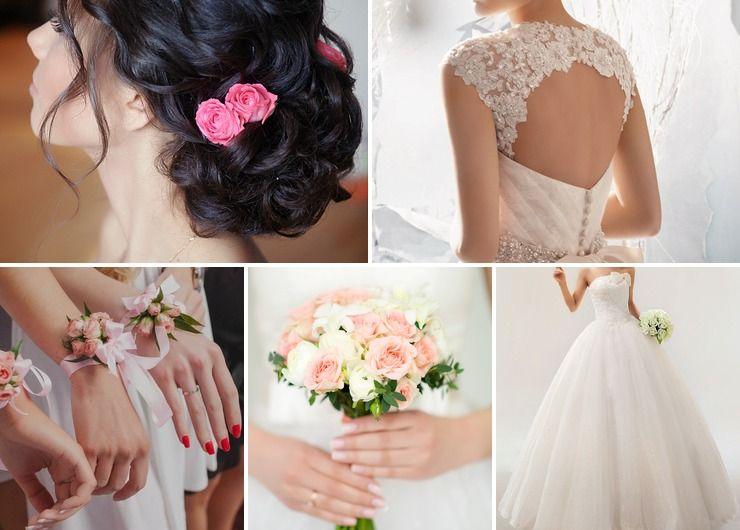 Mediterranean pink rose wedding bouquet