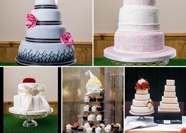 A few wedding cakes