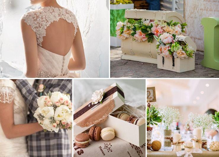Wedding dresses Pink Rustic