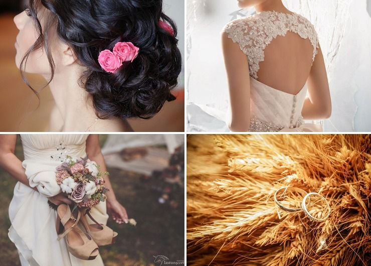 Wedding dresses Brown in Autumn Rustic