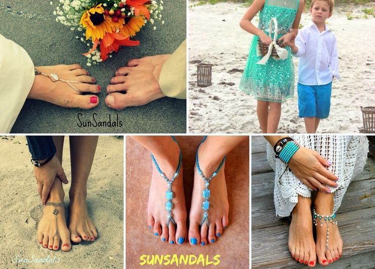 Barefoot Sandals for Beach Weddings
