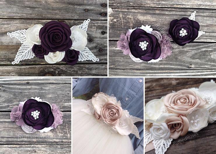 Custom Bridal Sashes