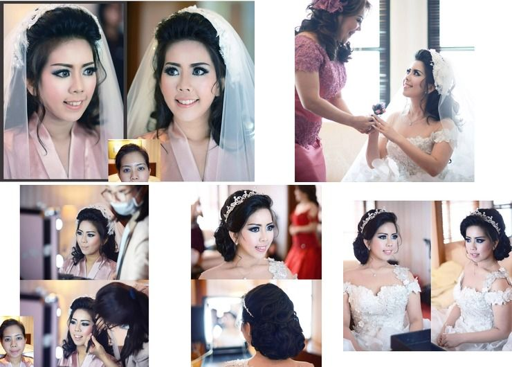 Wedding & Prewedding makeup hairdo