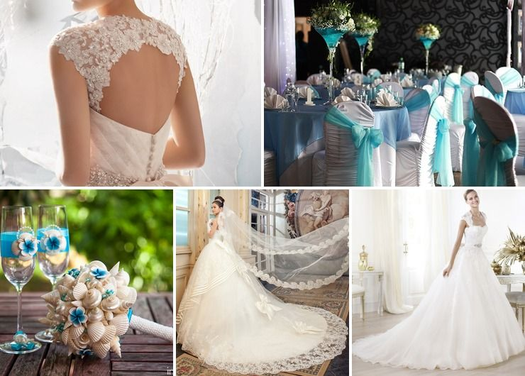 Wedding dresses Blue in Autumn American