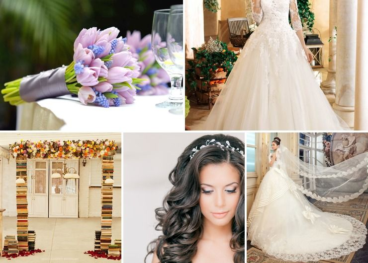 Vintage spring bridal style