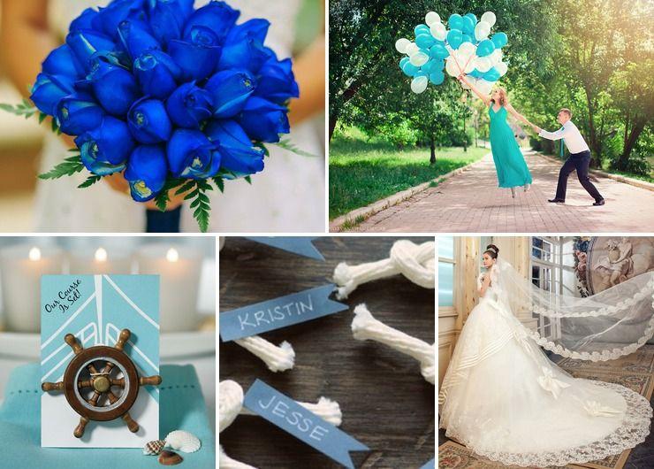 Wedding dresses Blue American
