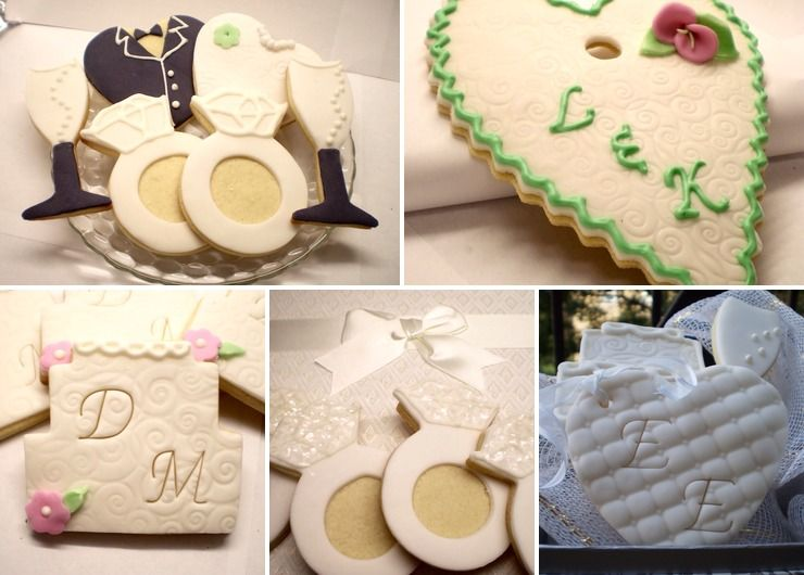 Wedding and bridal related cookies