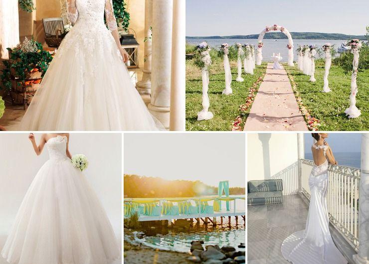 Wedding dresses Blue in Summer Vintage