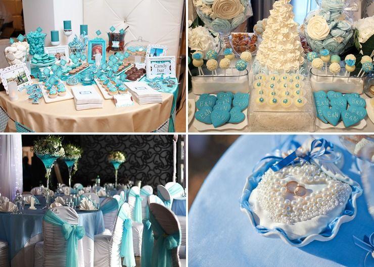 Wedding reception decor Blue American