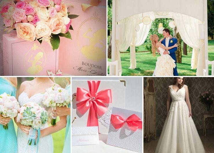Mediterranean pink wedding reception decor