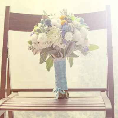 Summer aster wedding bouquet