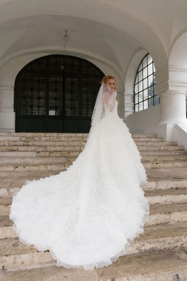 Long train wedding dresses