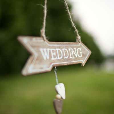 Rustic summer wedding signs