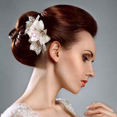 Autumn long wedding hairstyles