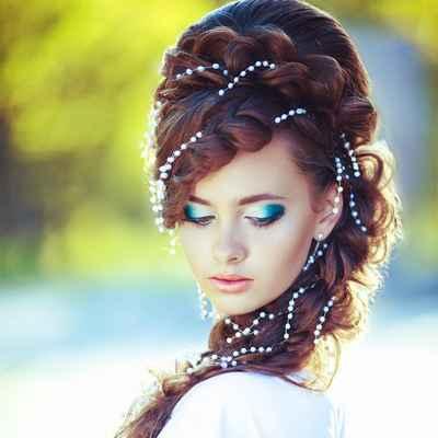 Mediterranean bridal style