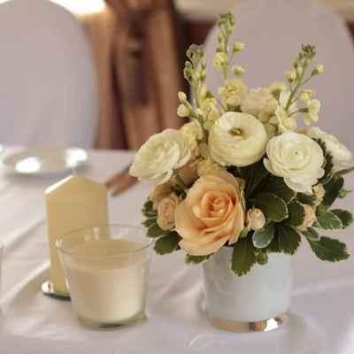 Ivory wedding floral decor