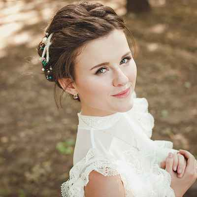 Marine long wedding hairstyles