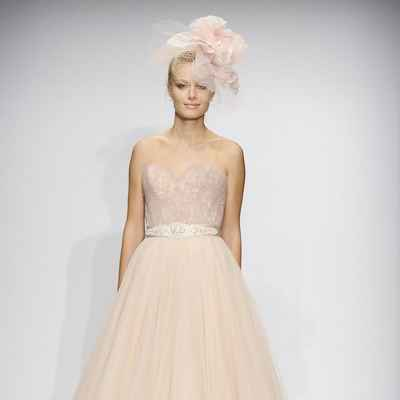 French pink ball gown wedding dresses
