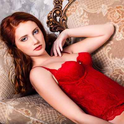 Red wedding lingerie