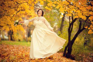 Autumn ivory bridal style