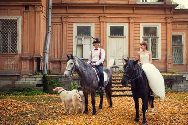 English autumn real weddings